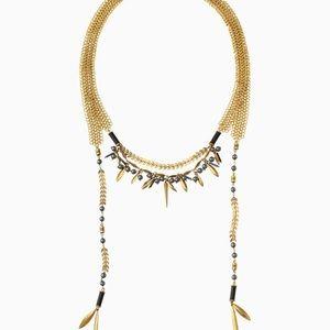 Stella & Dot layered wrap necklace